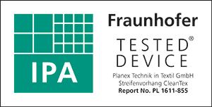 Fraunhofer Zertifikat Streifenvorhang Planex